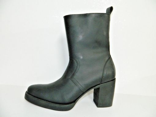 Custom Made Round Toe Double Sole Boots With Inside Zipper Made To Order To Your Size