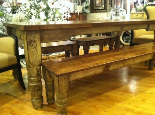 Custom Made Ohio Valley Harvest Table With Benches