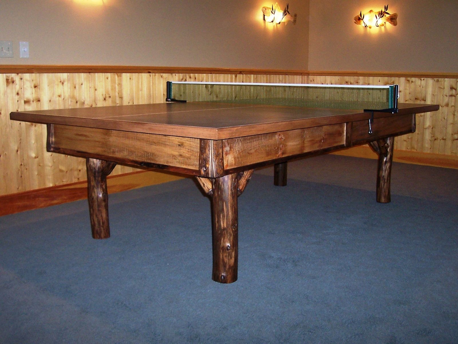 Custom Rustic Ping Pong By Baron S Billiards Custommade Com