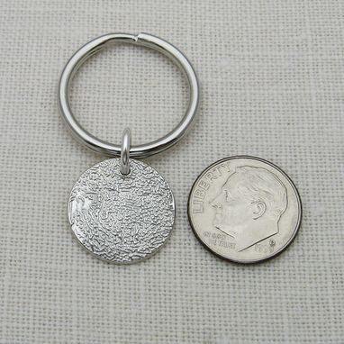 Custom Made Sterling Silver Fingerprint Keychain