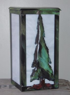 "Custom Made Solid Copper Outdoor Lantern. ""Sapling"""