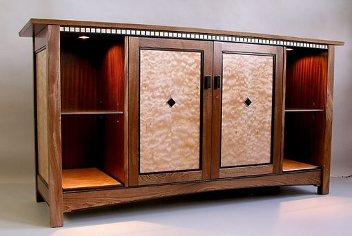 Custom Made Mission Style Audio/Video Cabinet