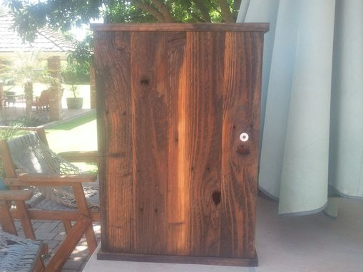 Custom Made Aged Redwood Medicine Cabinet