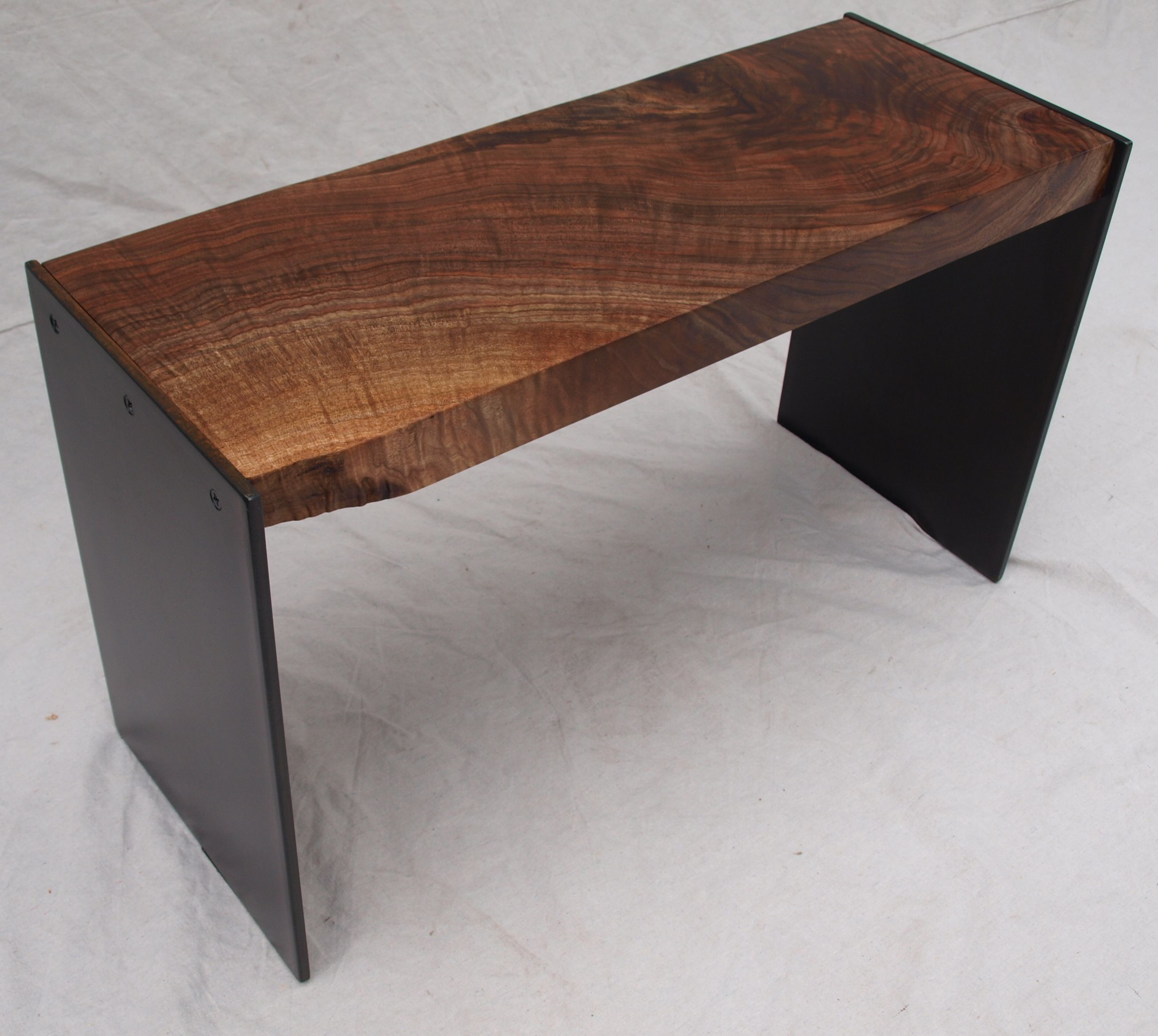 Sensational Walnut Steel Bench Ibusinesslaw Wood Chair Design Ideas Ibusinesslaworg