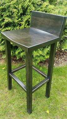 Custom Made Deep Espresso Maple Bar Stool