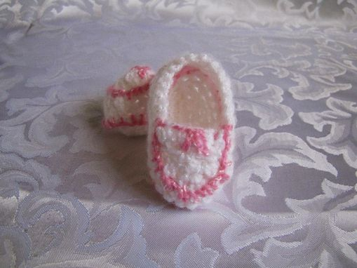 Custom Made Newborn Baby Girls Infant Mock Moccasins Shoes Booties Any Color
