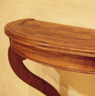 Custom Made Black Walnut Demilune Table
