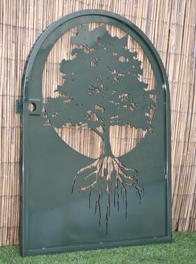 Custom Made Metal Art Gate - Tree Of Life Wall Panel Art - Ornate Garden Gate - Laser Cut Panel