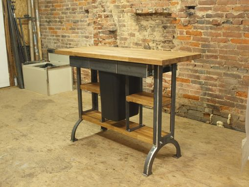 Kitchen Console Table hand made modern / industrial kitchen island console table