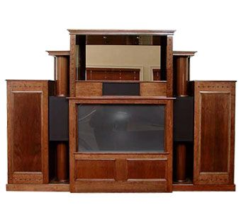 Custom Made Cherry Integrated Home Theatre Unit