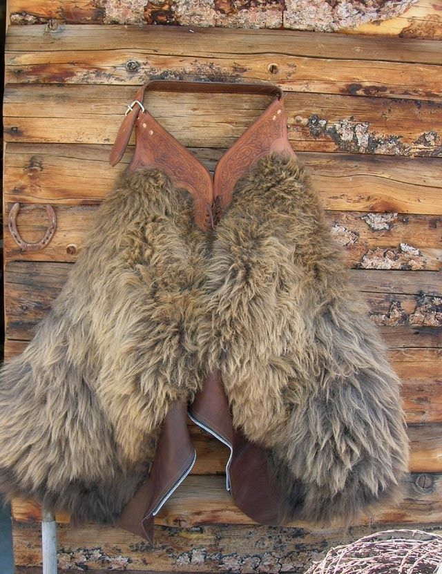 Hand Made Wooly Buffalo Chaps Leggins By Buckaroousa