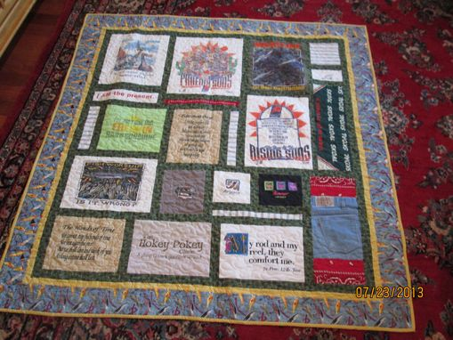Custom Made Throw Size T Shirt / Memory Quilt