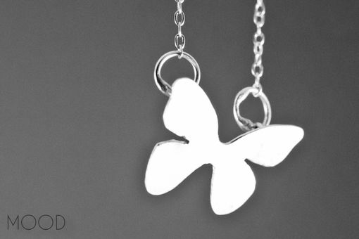 Custom Made Butterfly - Hand Forged Argentium Sterling Silver Necklace