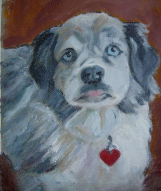 Custom Made Baubles-- Custom Dog Pet Portrait