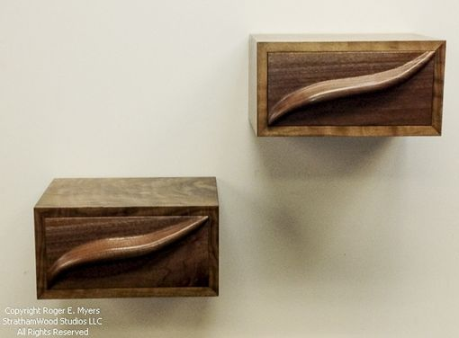 Custom Made Floating Shelf With Drawer