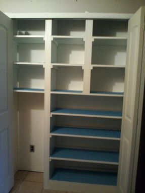 Custom Made Storage Nook For Shallow Closet