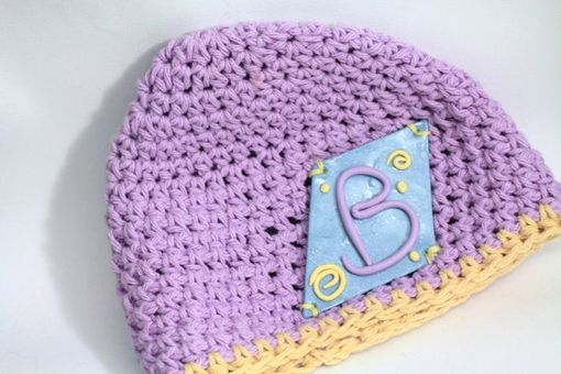 Custom Made Personalized Baby Hat, Beanie, Personalize With Initial