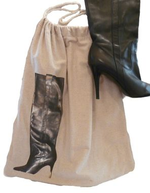 "Custom Made Custom Drawstring Dust Cover For ""Tall Boots"""