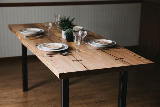"Custom Made ""Arizona"" Ash Wood Slab Dining Table"