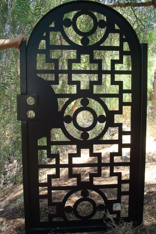 Buy A Hand Made Gate Metal Custom Garden Entry Walk Thru