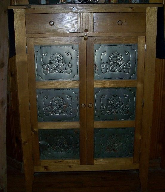 Custom Made Antique Reproduction Pie Safe - Hand Crafted Antique Reproduction Pie Safe By Old School Custom