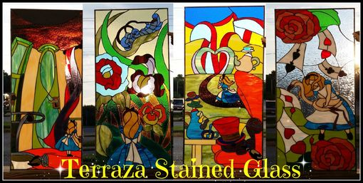Custom Made Stained Glass Windows - Alice In Wonderland Collection (W-73)