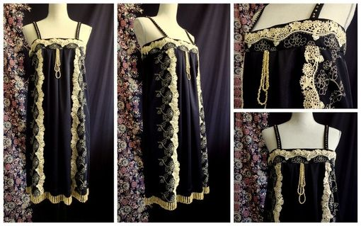 Custom Made 1920s Style Beaded Flapper Dress