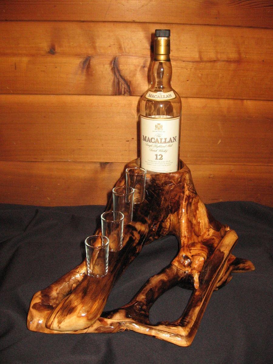 Custom Log Whiskey Rack by Against The Grain Woodworking ...