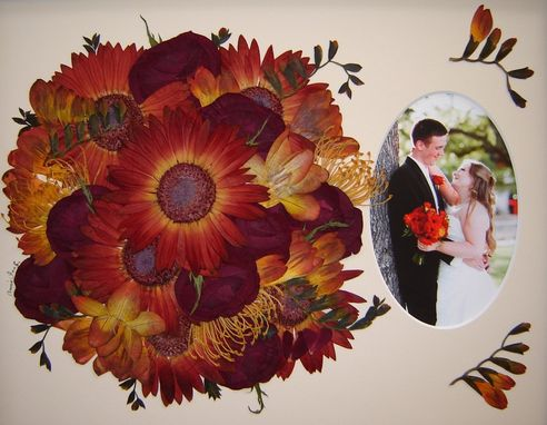 Custom Made Floral Preservation Of A Beautiful Red Bridal Bouquet ~