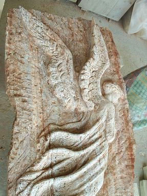 Custom Made Angel In Persian Travertine