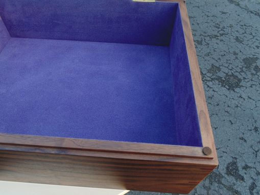 Custom Made Solid Walnut Keepsake Box W/ Picture Frame Lid
