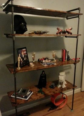Custom Made Industrial Bookshelf