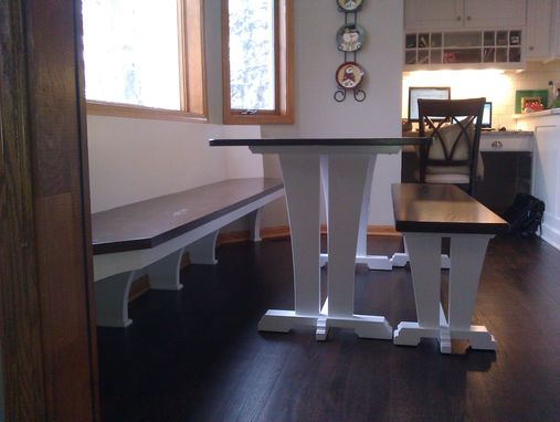 Custom Made Trestle Table And Bench