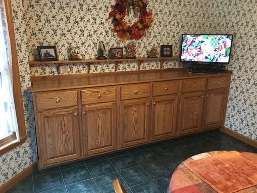 Custom Made 9'-0 Three Cabinet Oak Buffet