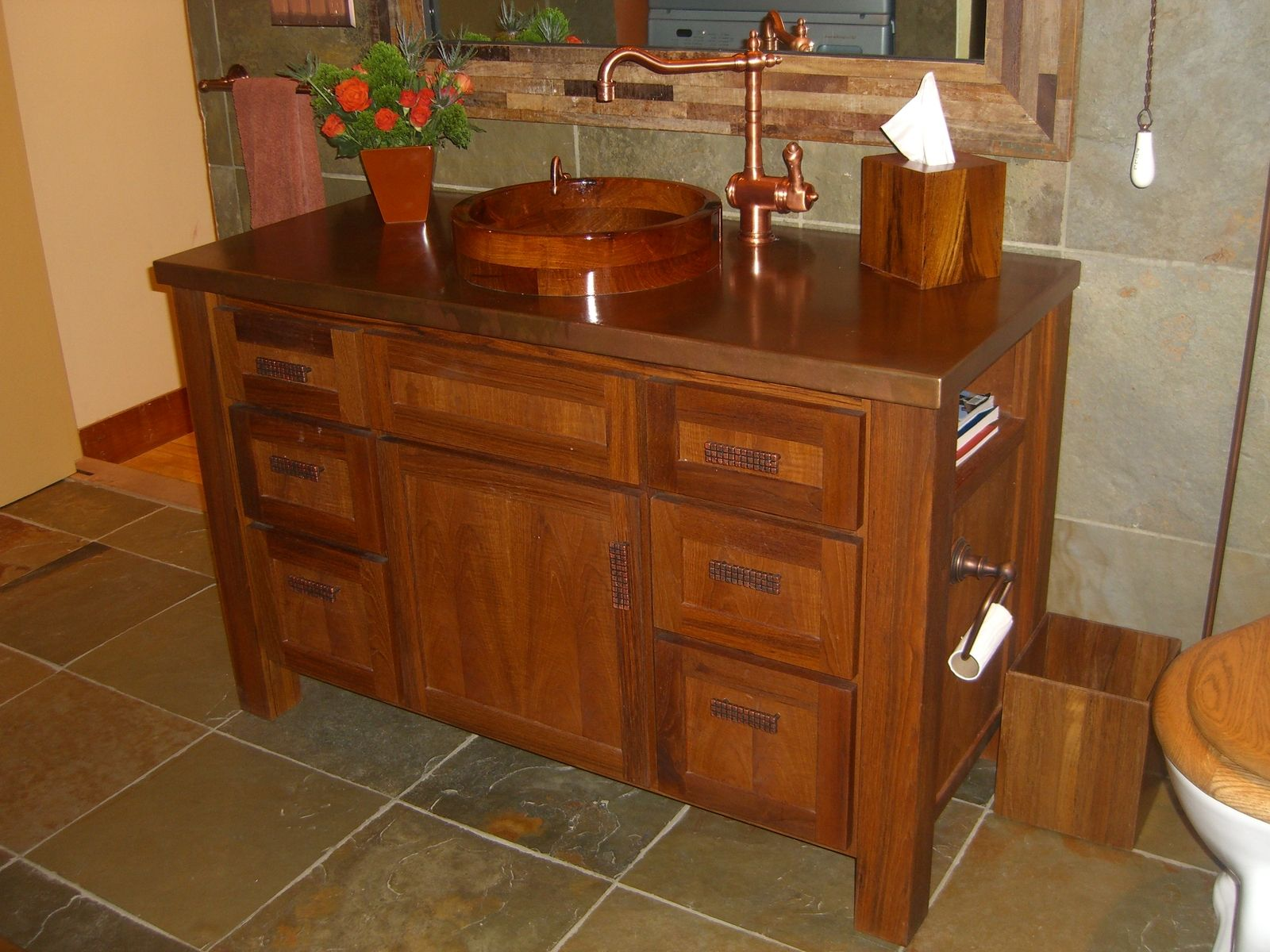 Hand Made Burmese Teak Vanity By Koering Custom Furniture Llc Custommade Com