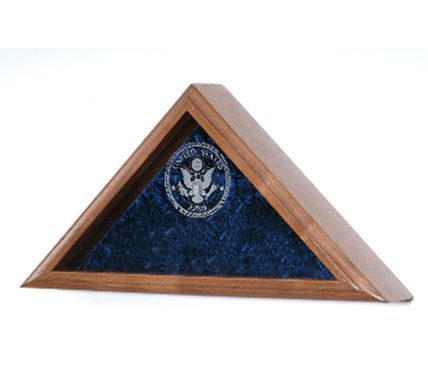 Custom Made Personalized Flag Case, With Laser Engraved Glass For Large Flag