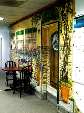 Custom Made Church Coffee House Mural