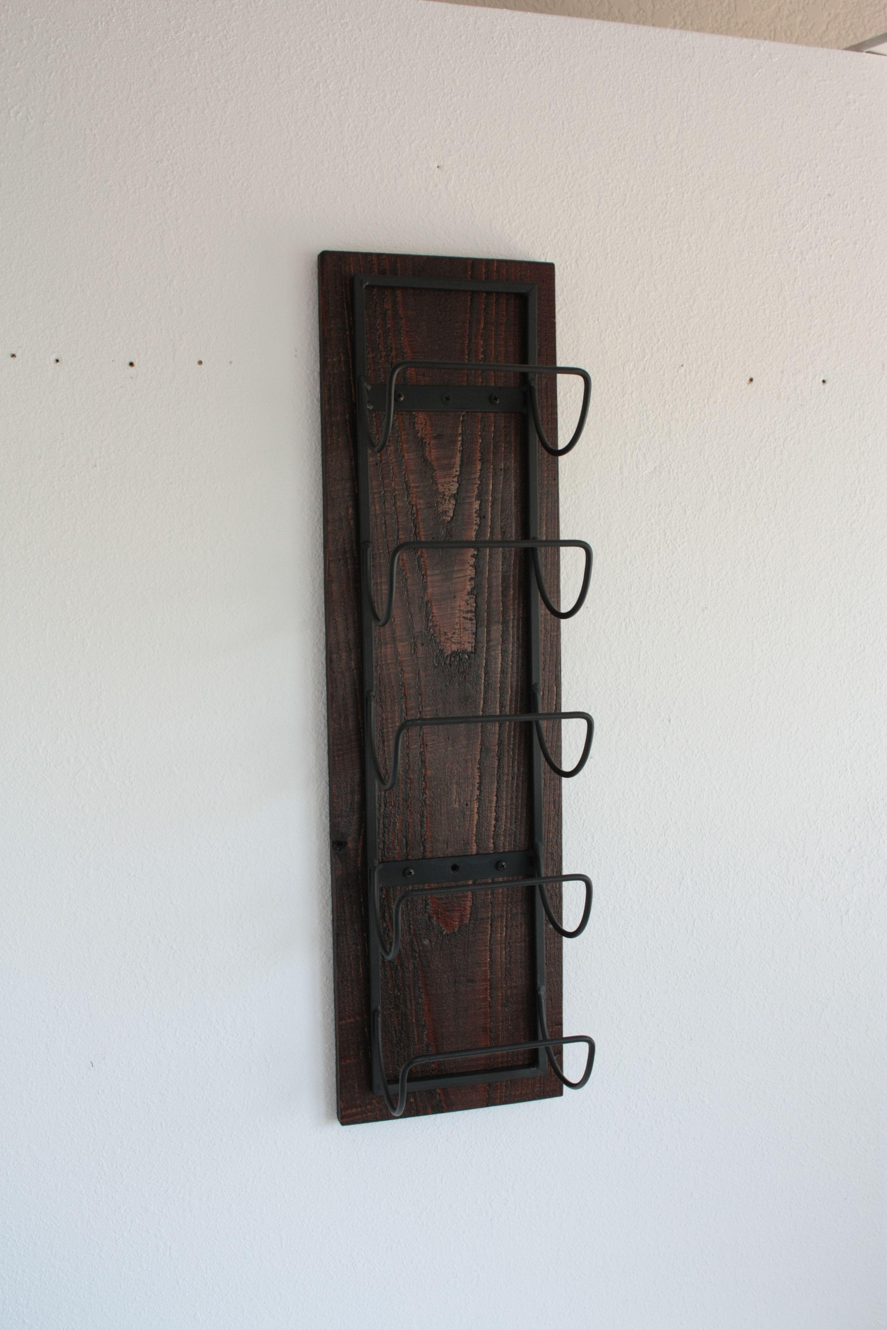 kitchen storage mounted wine wall mount bottle copper rack holder pin