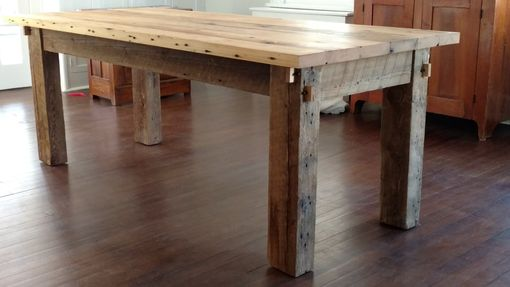 Custom Made Hand Built Reclaimed Wood Table