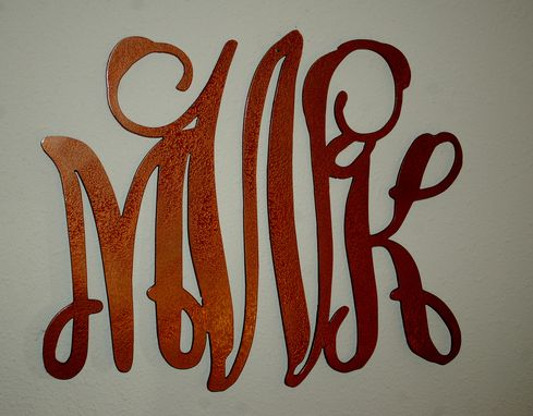 Custom Made Custom Monograms Metal Wall Art Home Decor By Covington Iron Works