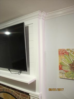 Custom Made Built-In Entertainment Center With Mantel