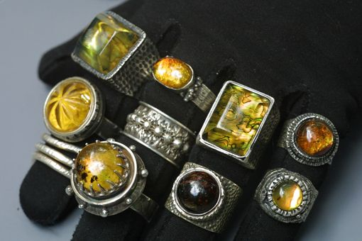 Custom Made Chiapas Amber Rings