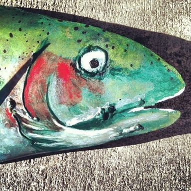 Custom Made Hand Painted Trout.