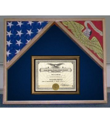 Buy a Custom Made Military Flag Case For 2 Flags And Certificate ...