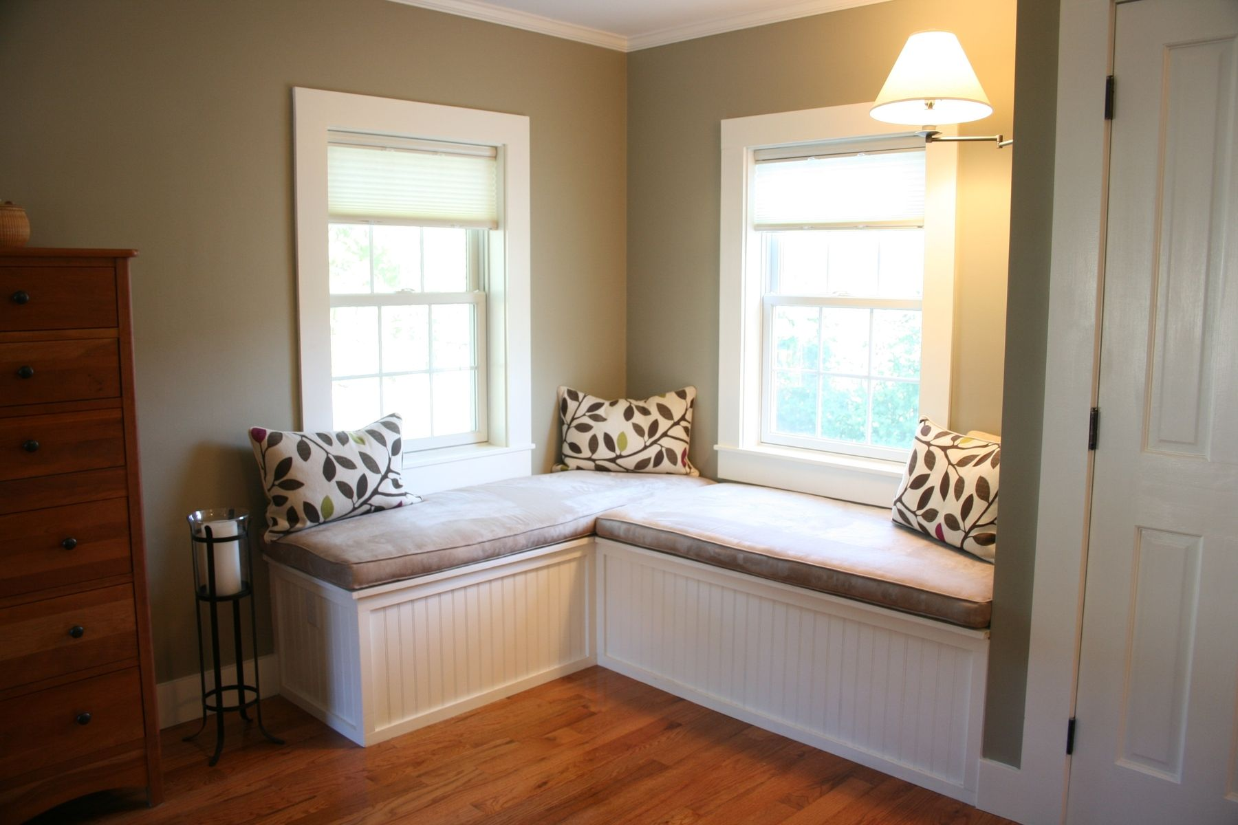 Hand Made Custom Window Seat And Upholstered Cushions For