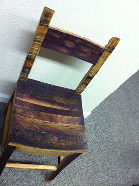 Custom Made Chairs Made With Wine Barrels