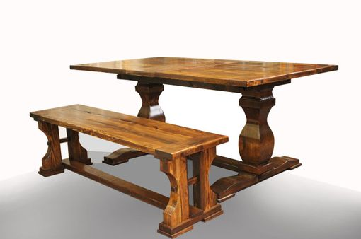 Custom Made Tuscany Table And Bench