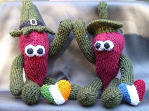 Custom Made Chili Pepper Toys - Chip O'Tlae & Hal E. Pinot