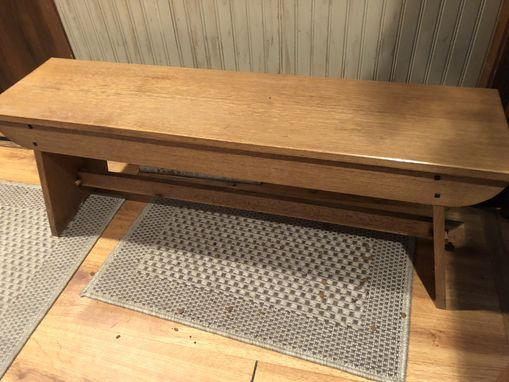 Custom Made Oak Bench With Storage