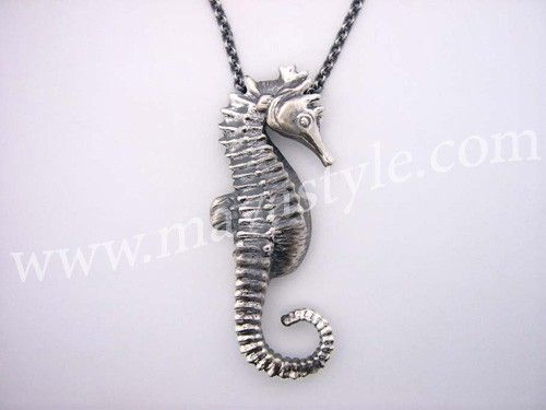 Custom sterling silver seahorse pendant by mava style custommade sterling silver seahorse pendant aloadofball Image collections